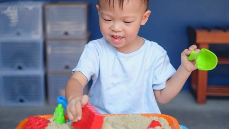 Mum shares hack on how to make safe and edible sand for babies to play with