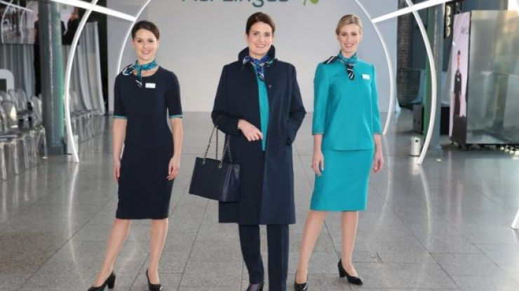 Aer Lingus unveil new uniforms, with women wearing trousers for the first time