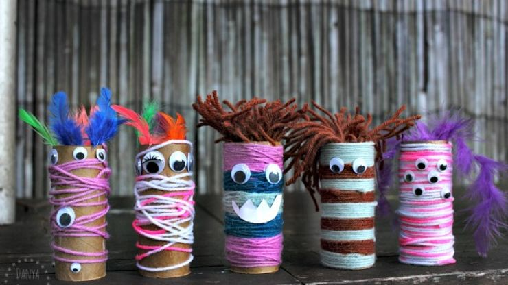 10 easy toilet roll crafts (as you are going though all that toilet paper you stockpiled)