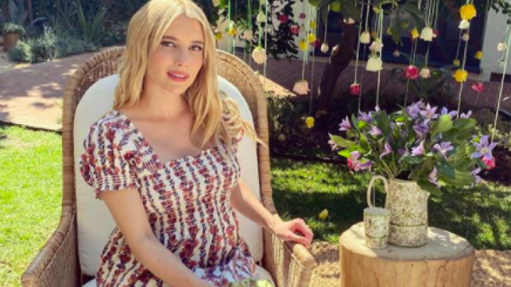Emma Roberts received a vagina-inspired bouquet at her baby shower and it's absolutely perfect