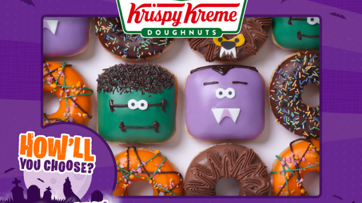 Krispy Kreme's latest range is exactly what our at-home Halloween celebration needs
