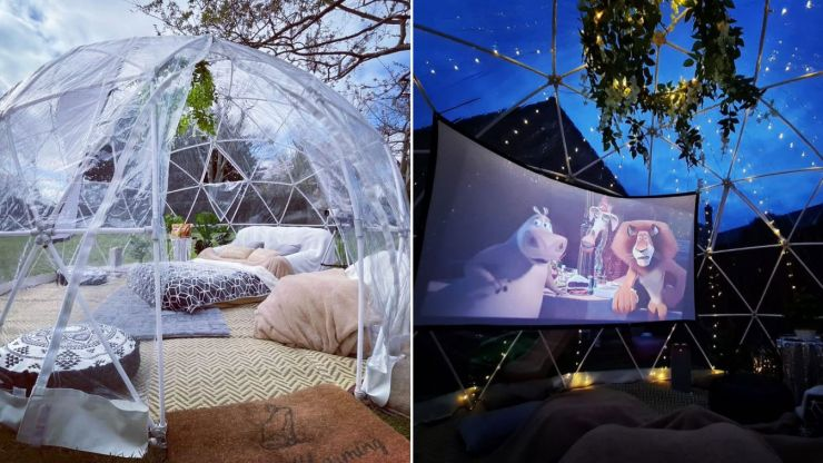 We're dying to try this back garden movie night experience!