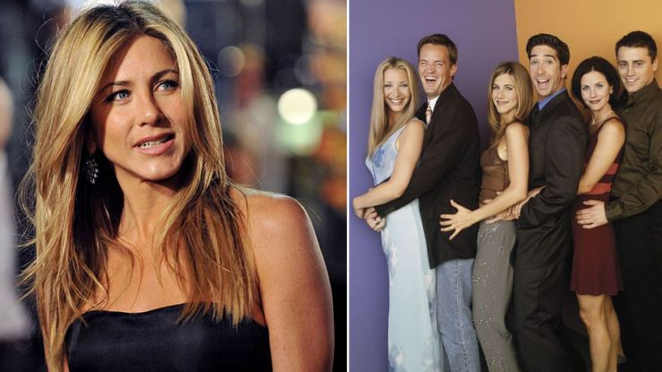 Jennifer Aniston shares adoption news with the cast of Friends