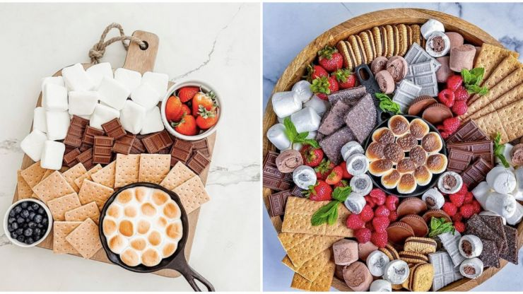 S'mores boards are the PERFECT thing to serve on all your garden parties this summer