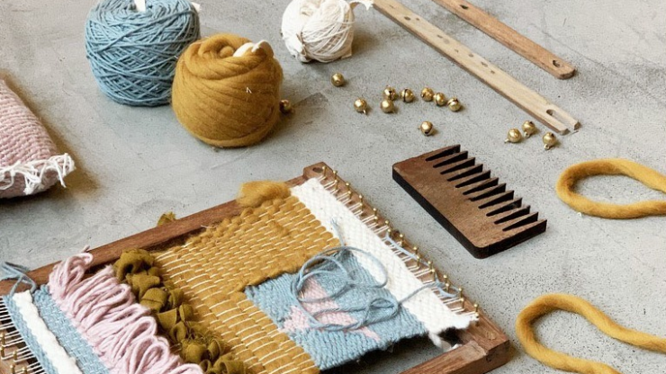 School-age kids will love getting creative with these embroidery, sewing and macramé kits
