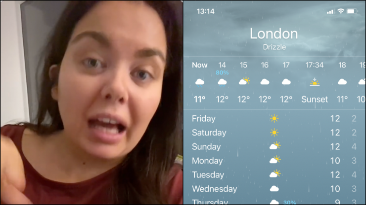 Scarlett Moffatt discovers '30% rain' on weather app doesn't mean chance of rain