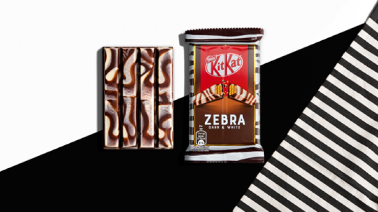 Zebra KitKats are now a thing and we're intrigued