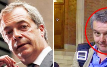 Nigel Farage attacks UKIP's only MP, as man in background steals show with his reaction