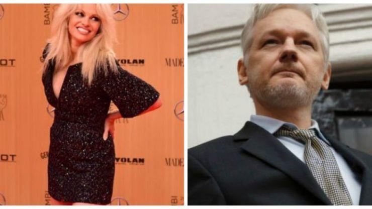 "Pamela Anderson has written a bizarre poem about ""sexy"" Julian Assange"
