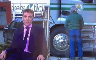 Oblivious punter seen taking a leak during live TV coverage of Cheltenham