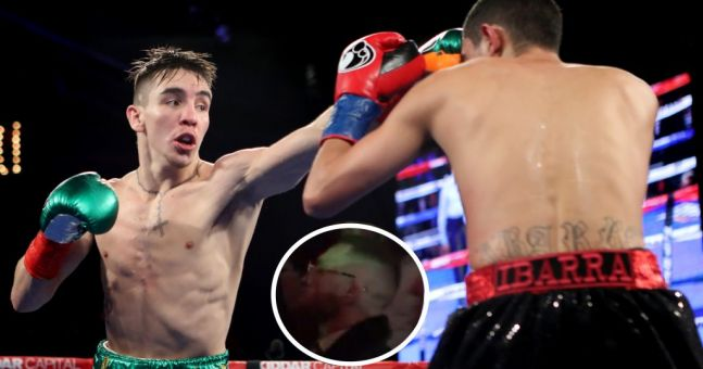 WATCH: Michael Conlan wins crushing pro debut victory following Conor McGregor's ring strut