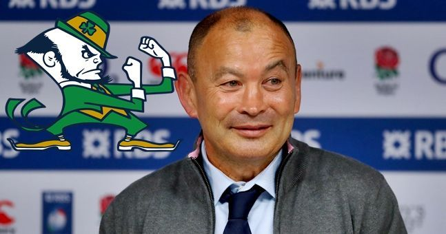 Eddie Jones couldn't resist a Leprechaun remark at the end of his press conference