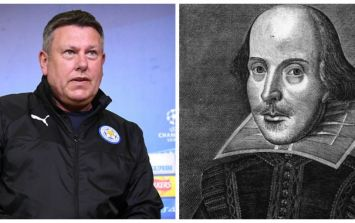Leicester midfielder actually quotes William Shakespeare after his namesake's heroics