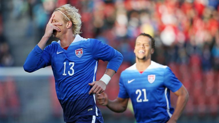 Former Premier League man Brek Shea wins the award for stupidest red card of the weekend