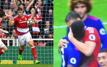 People think Rudy Gestede tried to bite Eric Bailly during Manchester United's win at the Riverside