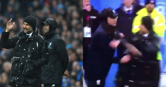 Pep Guardiola and Jürgen Klopp star in the friendliest touchline disagreement ever