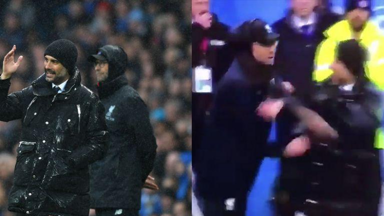 Pep Guardiola and Jürgen Klopp star in the friendliest touchline disagreement ever