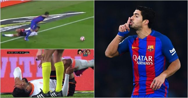 Piece of Luis Suarez's brilliance left Valencia defender unable to walk