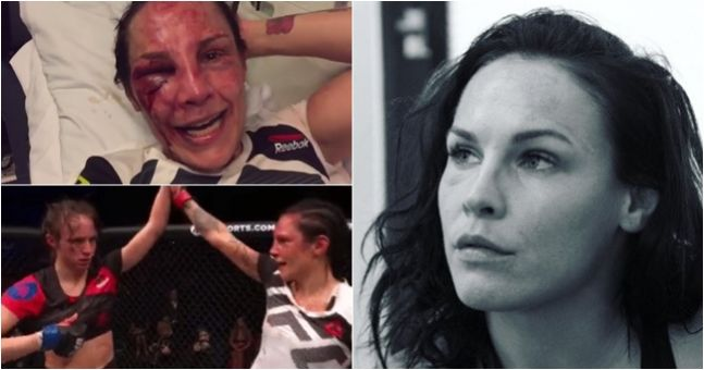 Lina Lansberg looked like something straight out of a horror movie after UFC London war