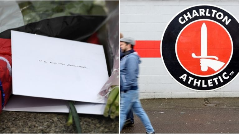 Charlton pay beautiful tribute to policeman who lost his life in  Westminster terror attack