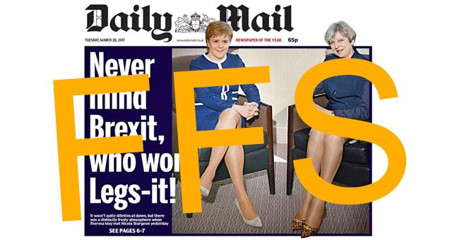 If you thought the Mail's 'Legs-it' front page was bad, their pervy description of May and Sturgeon is even worse