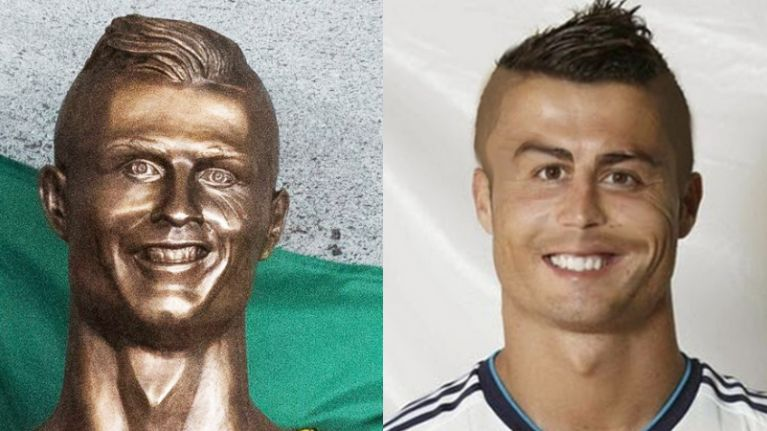 Former Newcastle player joins Cristiano Ronaldo statue pisstaking with perfect comparison