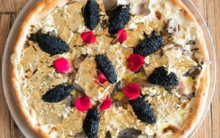 In case you're wondering, this is what a $2,000 pizza looks like
