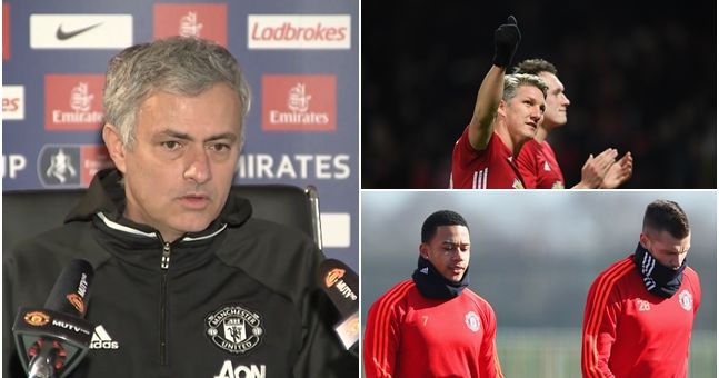 Jose Mourinho offers an update on the futures of three Manchester United players