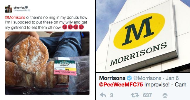 Everyone is loving how perfectly Morrisons dealt with a doughnut sex complaint
