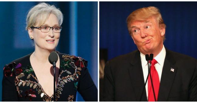 """President-elect Donald Trump clearly not too busy to slate """"over-rated"""" Meryl Streep on Twitter"""