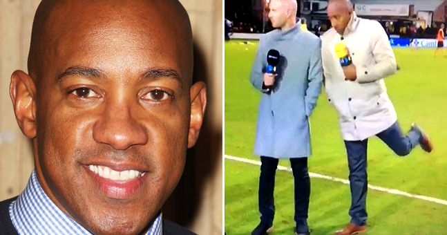 Everyone's loving Dion Dublin's painfully late reaction on BT Sport