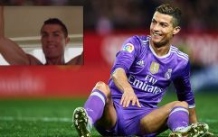 Cristiano Ronaldo pulled off a cheeky football trick while working out