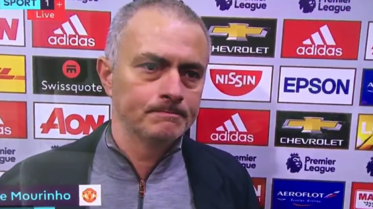 Jose Mourinho took a very obvious dig at Jürgen Klopp in his post-match interview