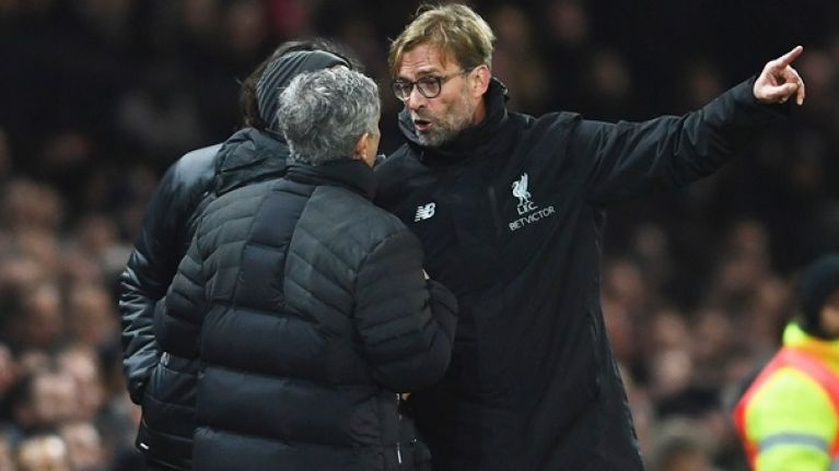 Jurgen Klopp has responded to Jose Mourinho's double standards accusation