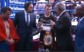 Commentator tells Jeff Horn straight to his face that he should have lost