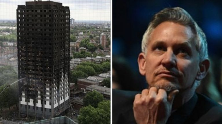 Gary Lineker is donating £19k to help the British Red Cross and the Grenfell Tower victims
