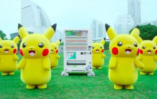 Stop what you're doing and watch a bunch of Pikachus dance around a Pokémon vending machine