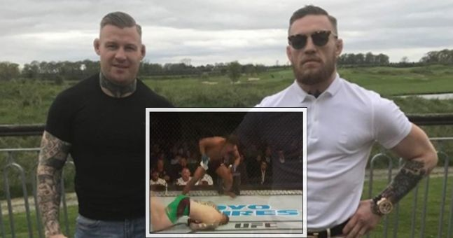Conor McGregor's teammate fell victim to a very bizarre knockout on Glasgow card