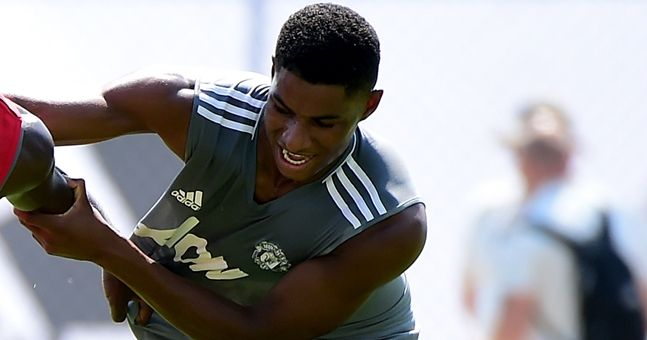 Marcus Rashford has bulked up quite a bit over the summer