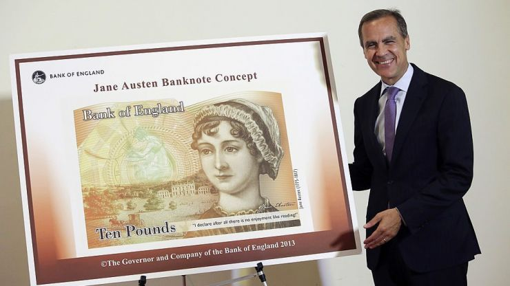 People aren't happy with the choice of quote on the new £10 note