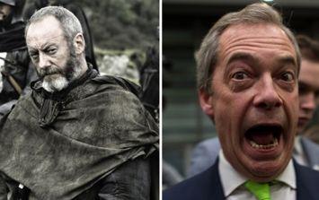 Game of Thrones star Liam Cunningham absolutely slates Nigel Farage