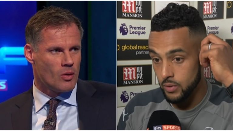 Jamie Carragher was appalled by Theo Walcott's comments after Crystal Palace defeat