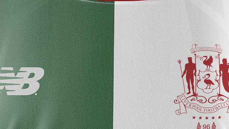 Liverpool s 2017 18 away kit is a green and white tribute to 90s  Spice f60f477cd