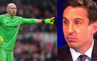 Gary Neville made his opinion of Brad Guzan perfectly clear during half-time analysis