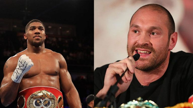 Tyson Fury and Anthony Joshua trade (slightly petty)Twitter blows