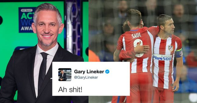 You can probably guess how people responded to Gary Lineker's tweet about Atletico Madrid's away goal