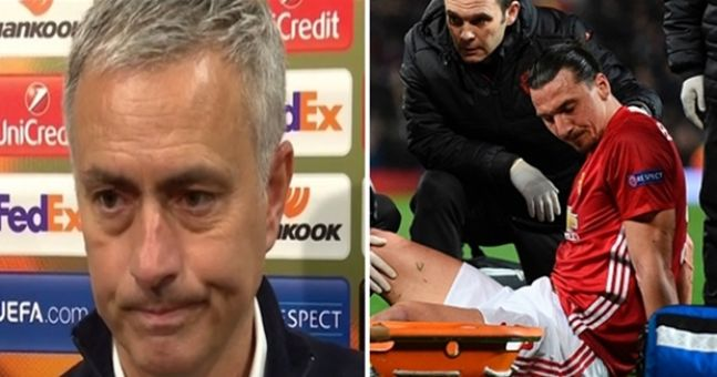 Jose Mourinho provides an update on the injuries to Zlatan Ibrahimovic and Marcos Rojo