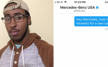 This guy got majorly trolled by Mercedes after asking for a free car