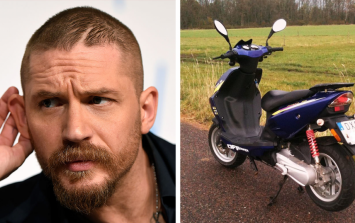 """Tom Hardy chased down a moped thief, got him and shouted: """"I caught the c**t!"""""""