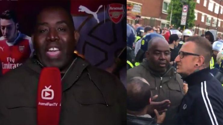 ArsenalFanTV's Robbie says he was racially abused by Tottenham fans as he criticises security